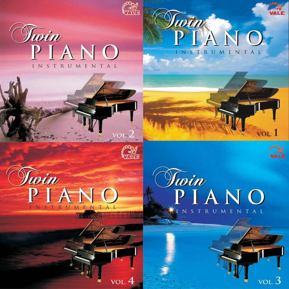 مجموعه ی کامل Twin Piano Instrumental Vol.1-4